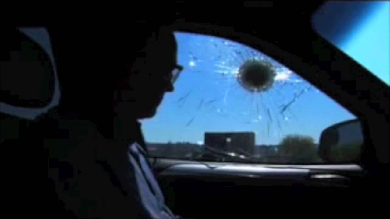 how to break a bullet proof glass
