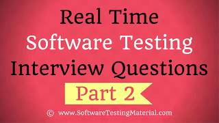Real Time Manual Testing Interview Questions