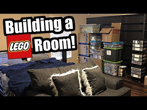 Building a LEGO Room! New house, new room tour!