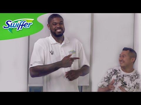 Amir Johnson Shows His Fan How To Clean - #ManClean Ep. 3 | Swiffer
