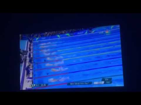PHELPS 100m butterfly semifinal RIO 2016