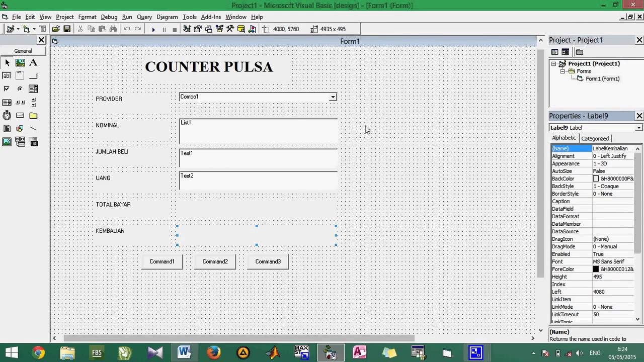 how to make a point counter in visual basic 6