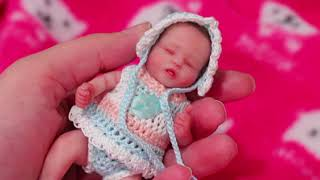 Miniature Silicon Reborn Baby - Super Small Lifelike Toy Baby Gigi With Tiny Furniture  DIY Room