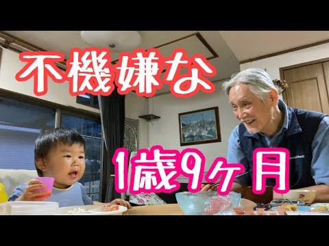 祖父に公園に連れていかれ相撲を見逃し不機嫌な1歳児