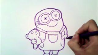 как рисовать миньона Боб