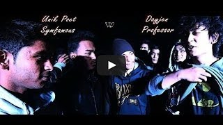 SickJam [Dayjen and Professor] Vs Underdogs [Unik Poet and Symfamous] - Raw Barz (RAP BATTLE)