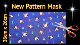 New Breathable Mask with 3 layers Face Mask sewing tutorial I Very Easy New Style Pattern Mask