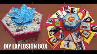 How to make explosion box || Hexagon explosion box