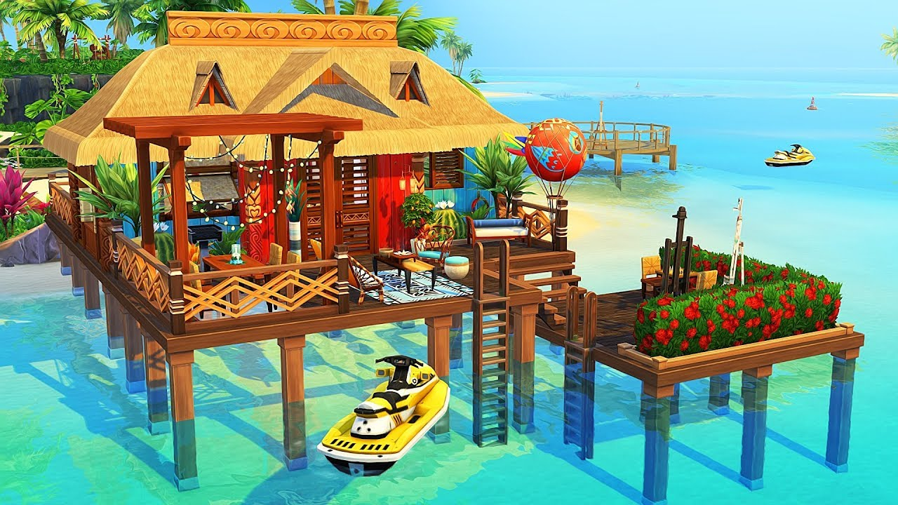 Tiny Overwater Bungalow The Sims 4