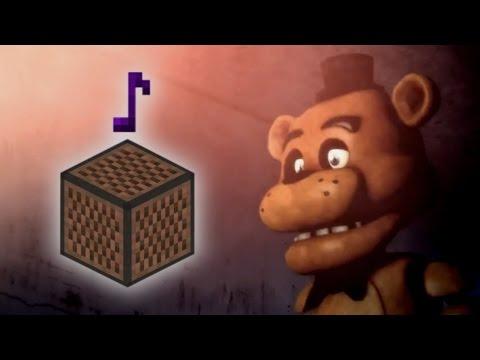 Cancion De Five Nights At Freddy´s   En Bloques De Nota!! - MINECRAFT
