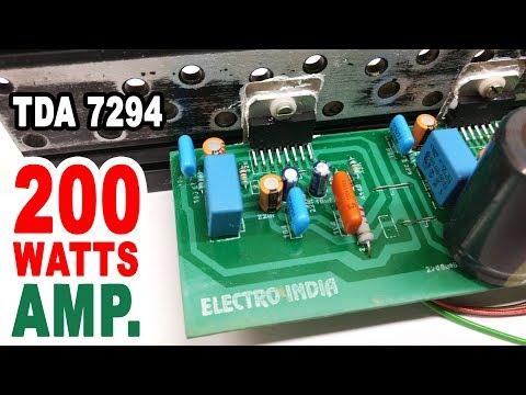 200 Watts Audio Amplifier Board DIY TDA 7294 IC ( Hindi