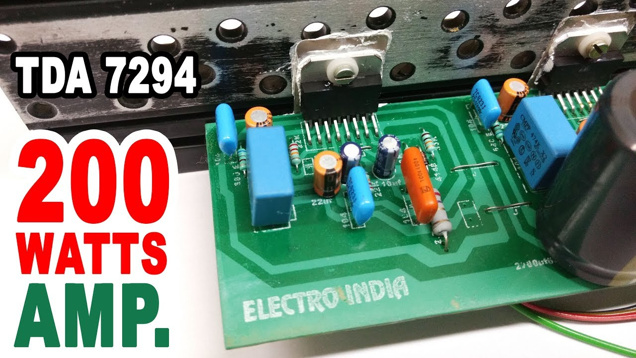 200 Watts Audio Amplifier Board DIY TDA 7294 IC ( Hindi Electronics )  ELECTROINDIA