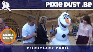 Disney Sand Sculpture 2015 Belgium - Frozen Summer Fun