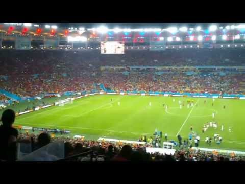 Final whistle - Spain V Chile World Cup 2014
