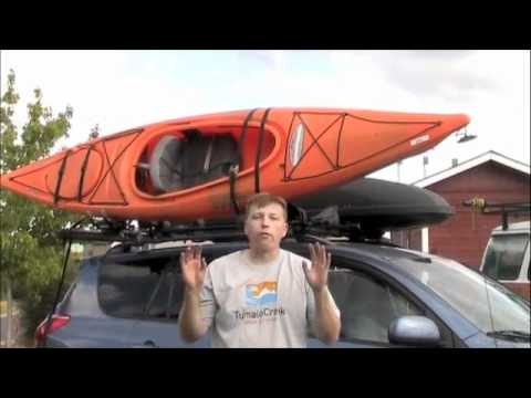 how to properly transport a kayak on the top of your vehicle bend or