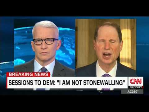 CNN intervew with Sen  Ron Wyden who had a heated exchange with  Jeff Sessions at the hearing