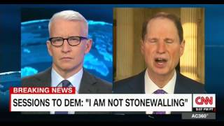 CNN intervew with Sen  Ron Wyden who had a heated exchange with  Jeff Sessions at the hearing Free HD Video