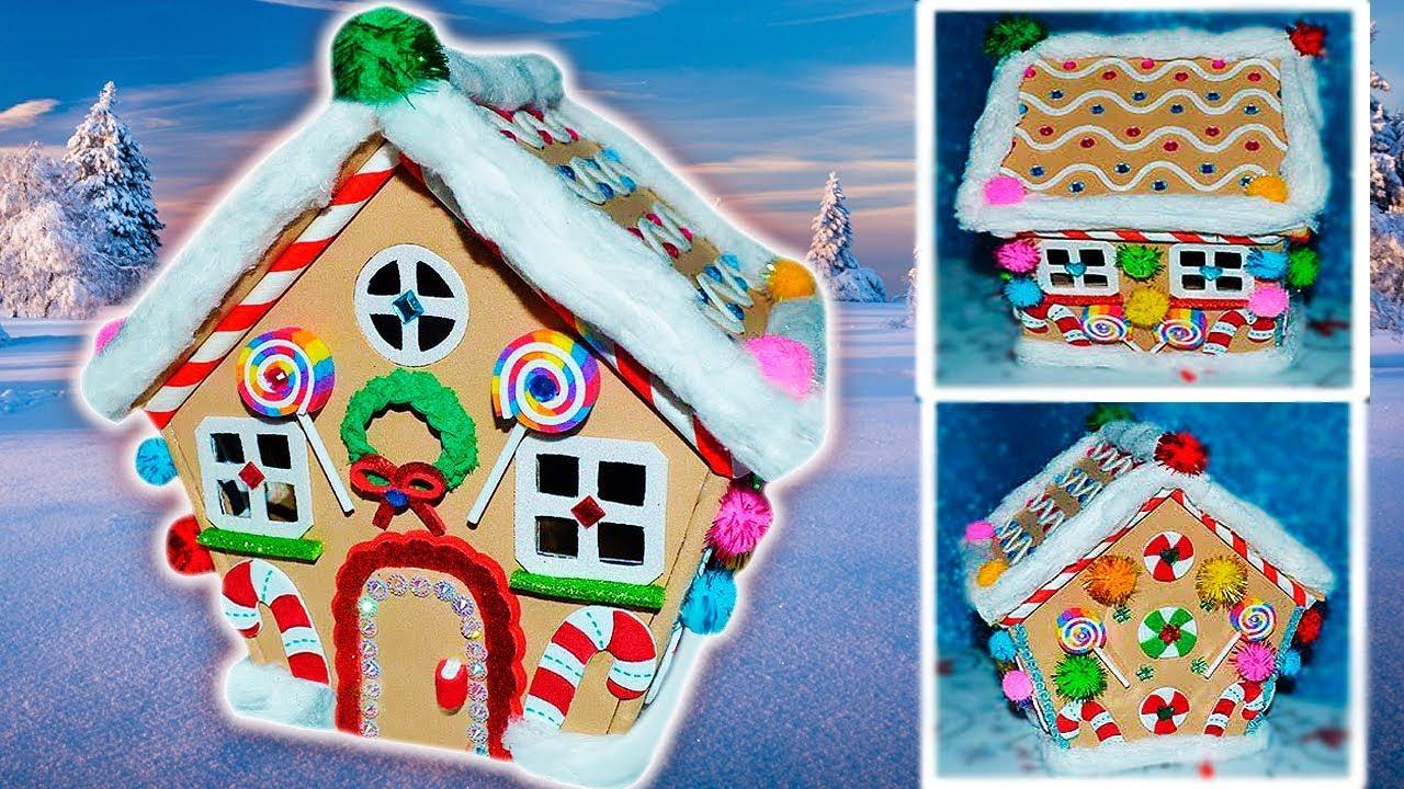 Tutorial casa de jengibre de navidad de goma eva foamy for Casa jengibre