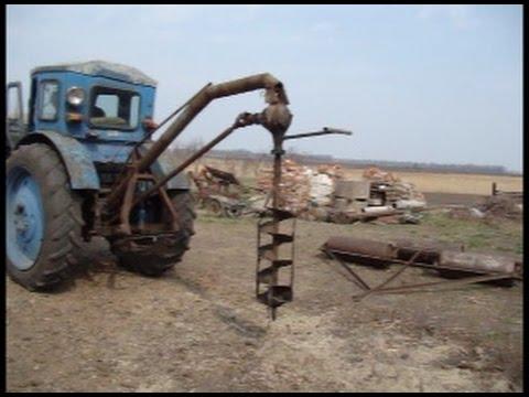 Ямобур своими руками для трактора видео