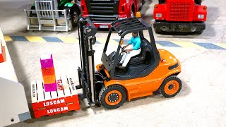 LOADING KINGS - COMEDY & LAUGHTER, PENALTIES & FAILURES - LESU FORKLIFTS - RC TRUCKING GAME SHOW