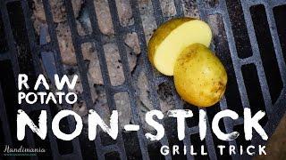 Cách để nướng thực phẩm không bị dính vào vỉ nướng