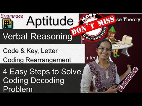 4 Easy Steps to Solve Coding Decoding Problems - Verbal Reasoning