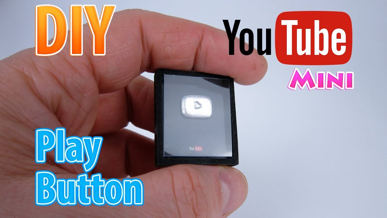Diy Miniature Youtube Play Button Dollhouse No Polymer Clay