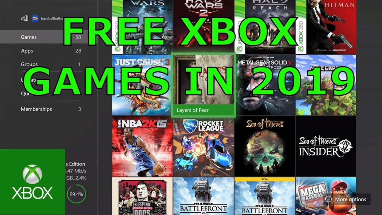 video games xbox one free download full version
