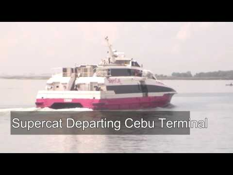 Riding a SuperCat from Cebu to Ormoc in the Philippines