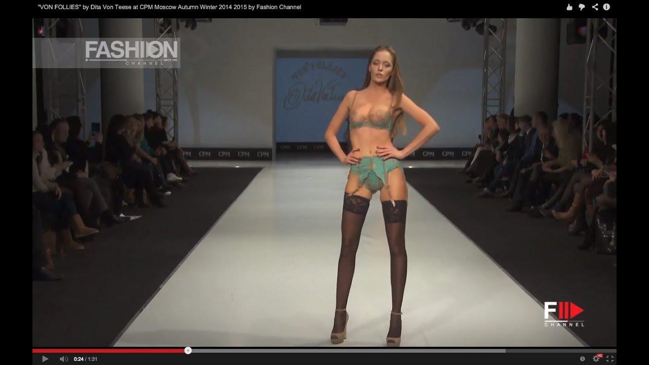 VON FOLLIES by Dita Von Teese Lingerie Fall 2014 CP Moscow - Fashion Channel