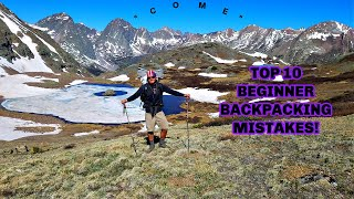 Top 10 Beginner Backpacker Mistakes