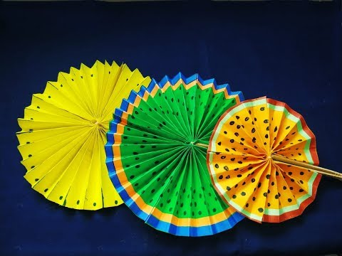 Diy:- How To Make Paper Fan At Home