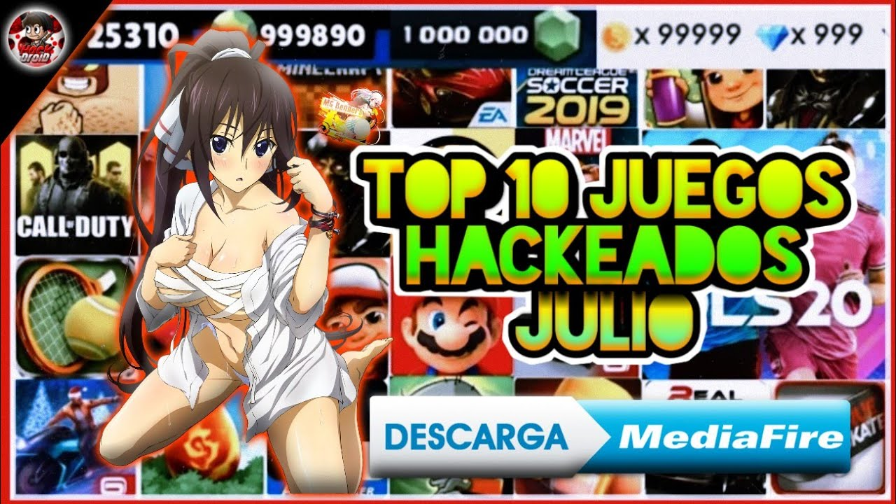 ✅Mega top 10 mejores juegos hackeados • para Android (por mediafire) * hack droid *