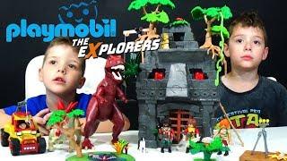 Playmobil The Explorers Δεινόσαυροι Παιχνίδια Αρχηγείο των Explorers - Τ Ρεξ και Εξερευνητικό όχημα