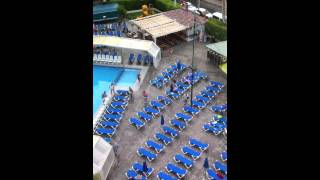 Sunbed madness in benidorm hotel ambassador playa