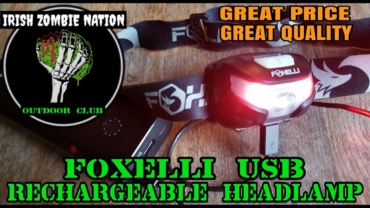 Foxelli Usb Rechargeable Headlamp  Excellent Budget