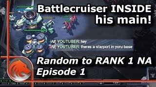 StarCraft 2: Nexus Rushing vs Terran?! - Rank 1 Grandmaster NA with Random!