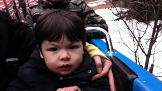 Orion's first roller coaster -- Thomas Land at Fuji-Q Highland