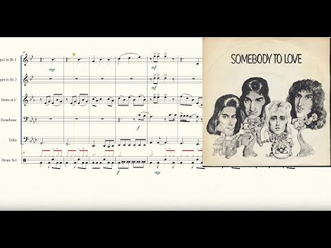 Somebody to Love for Brass Quintet Sheet Music