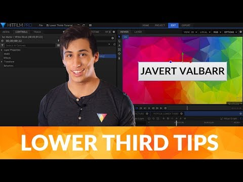 Hitfilm free video tutorials training hitfilm how to create lower thirds hitfilm express fandeluxe Image collections