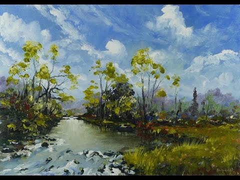Mid Summer Stream – Time Lapse Painting