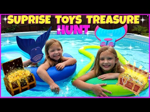 GIANT POOL & TWO MERMAIDS SURPRISE TOYS HUNT - Magic Box Toys Collector