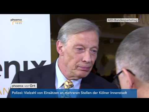 AfD-Bundesparteitag 2017: Gespräch mit Armin Paul Hampel am 22.04.2017