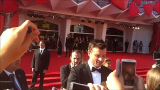 """Tom Welling - signing autographs & taking pics, """"Parkland"""" Red Carpet, 70th VFF (09-01-13)"""
