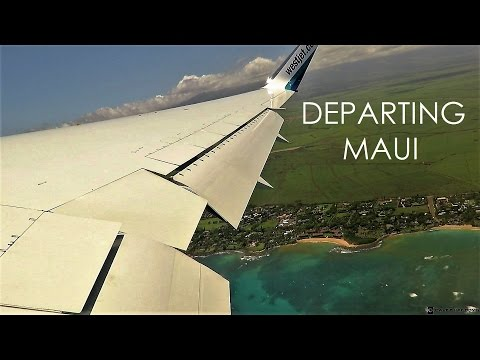 WestJet Boeing 767 Maui, Hawaii Departure