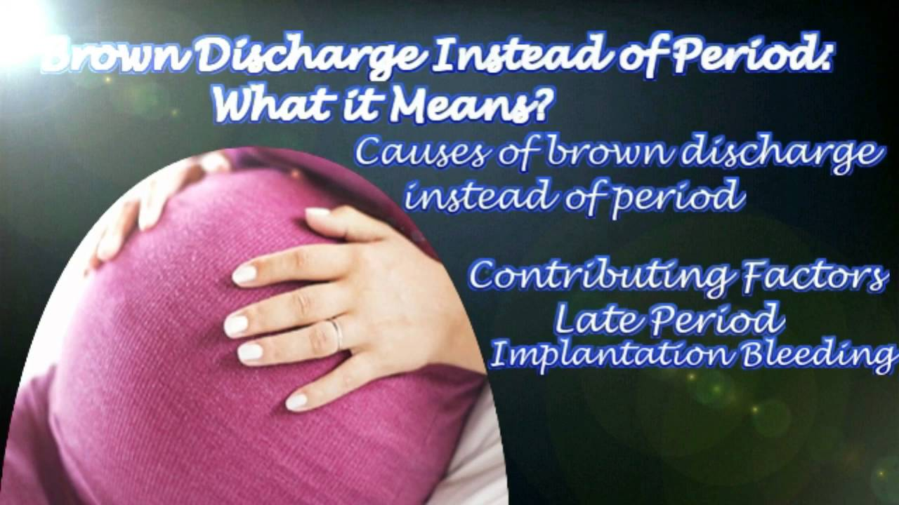 Brown Discharge Instead of Period: What it Means? - YouTube