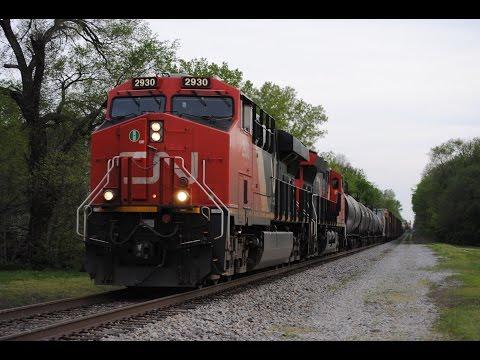 HD: 4/24/16 Railfanning Kinmundy, IL w/ CN, UP, NS, & Amtrak