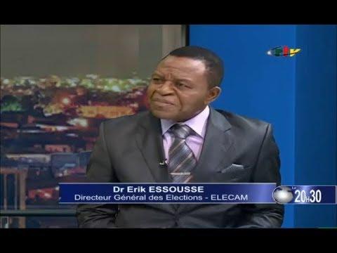 CRTV - JOURNAL DU 20H30 (Invité: Dr Erik ESSOUSSE, directeur général d'ELECAM) du 25/10/2018