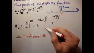 Thermodynamics 21 : Einstein Solid 5 Sharpness Of Multiplicity