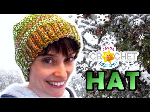 Crochet Hat Tutorial - Easy Perfect Fit Pattern! - YouTube